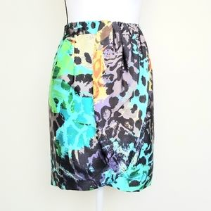 French Connection Animal Print Mini Skirt Size 2